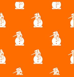 Snowman pattern seamless vector