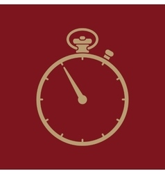 The stopwatch icon stopwatch symbol flat vector