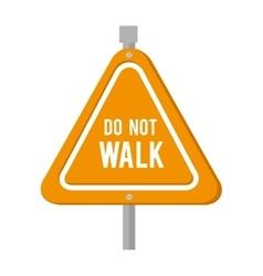 yellow sign precaution icon vector image