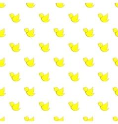 Yellow bird pattern cartoon style vector image