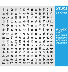 Collection of icons vector image
