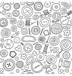 Buttons seamless pattern for your design vector