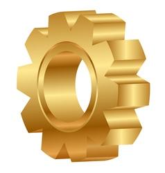 3d of golden cog wheel vector image