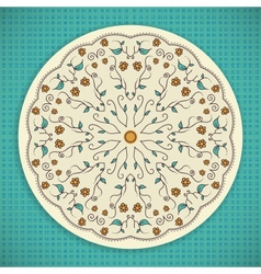 Round ornament background vector