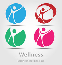 Wellness busines icon set vector