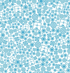 3d printer blue seamless pattern on the white vector