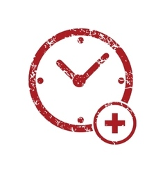 Add time red grunge icon vector