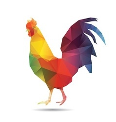 Abstract cock isolated vector