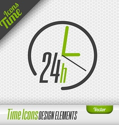 24 hours icon design elements vector
