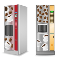 vending coffee is a machine isolated on white back vector image