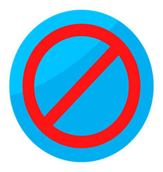 Sign ban isolated round vector
