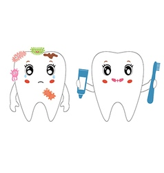 Teeth cleaning vector