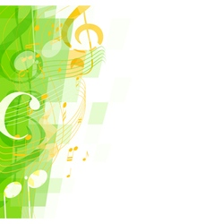 abstract green musical mosaic vector image vector image