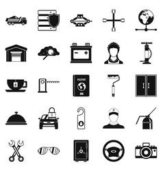 Adjustable wrench icons set simple style vector