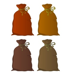 bag linen set vector image vector image