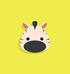 Cartoon zebra face vector