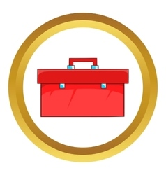 Closed red case icon vector