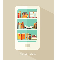 Concept for digital library vector