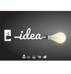 Creative light bulb idea Inspiration concept vector image vector image