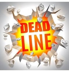 Deadline event concept vector
