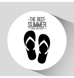 flip flops card best summer travel and enjoy vector image
