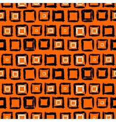 Geometric pattern with small hand painted squares vector