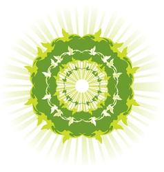 green sun vector image vector image