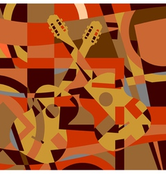Guitar abstract vector