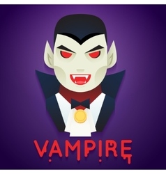 Halloween party vampire role character bust icons vector