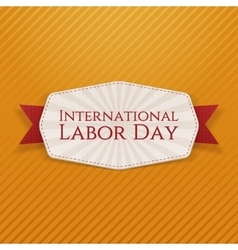 International labor day holiday banner template vector