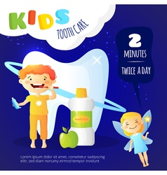 Kids Dental Care Poster vector image vector image