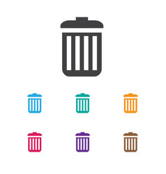 of network symbol on trash vector image