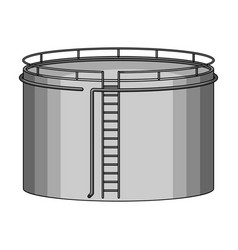 Oil storage tankoil single icon in monochrome vector