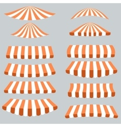 Orange White Tents vector image