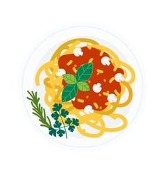 Pasta dish vector image