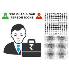 Rupee accounter icon with bonus vector