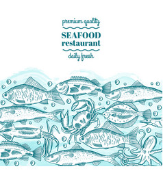 seafood design form style vector image