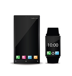 Smartphone and smart watch vector image