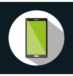 smartphone green screen graphic design vector image