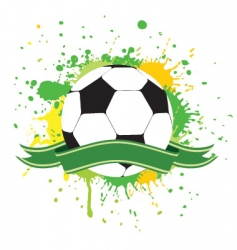 soccer ball 2 vector image vector image