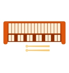 Synthesizer icon flat style vector