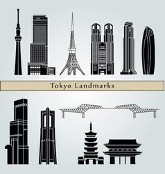 tokyo v3 landmarks vector image