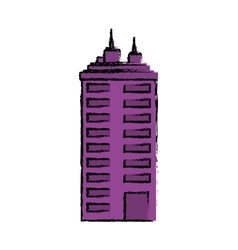 Urban city tower vector image vector image