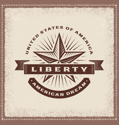 vintage liberty american dream label vector image vector image