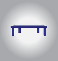 Vintage locker room bench vector
