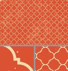 Vintage orange worn seamless pattern background vector