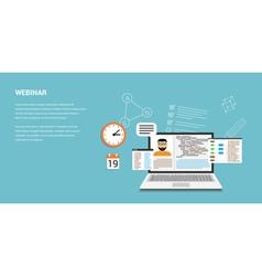 webinar vector image vector image