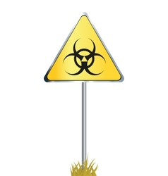 Biohazard sign icon vector image