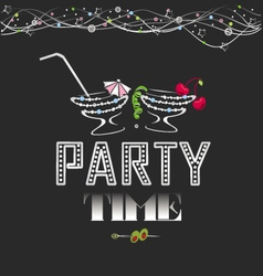 Party time poster vector