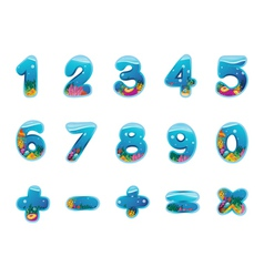 Numbers and signs vector